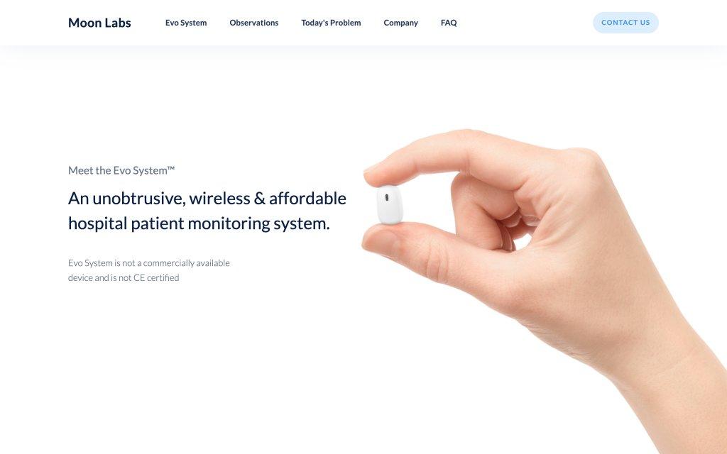 Screenshot of the website Moon Labs
