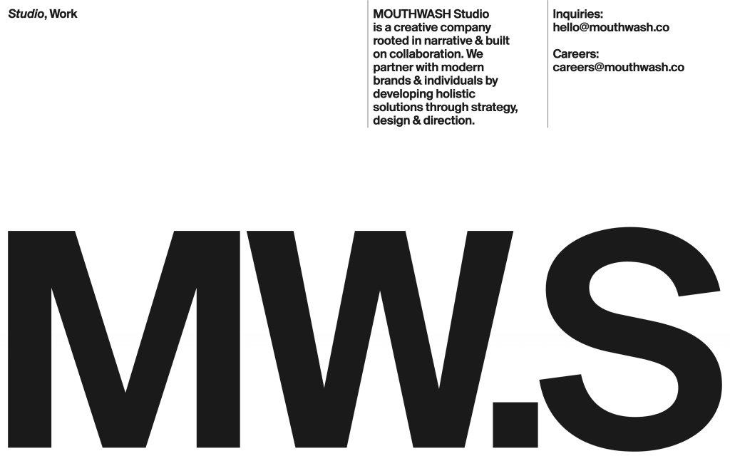 Screenshot of the website Mouthwash Studio