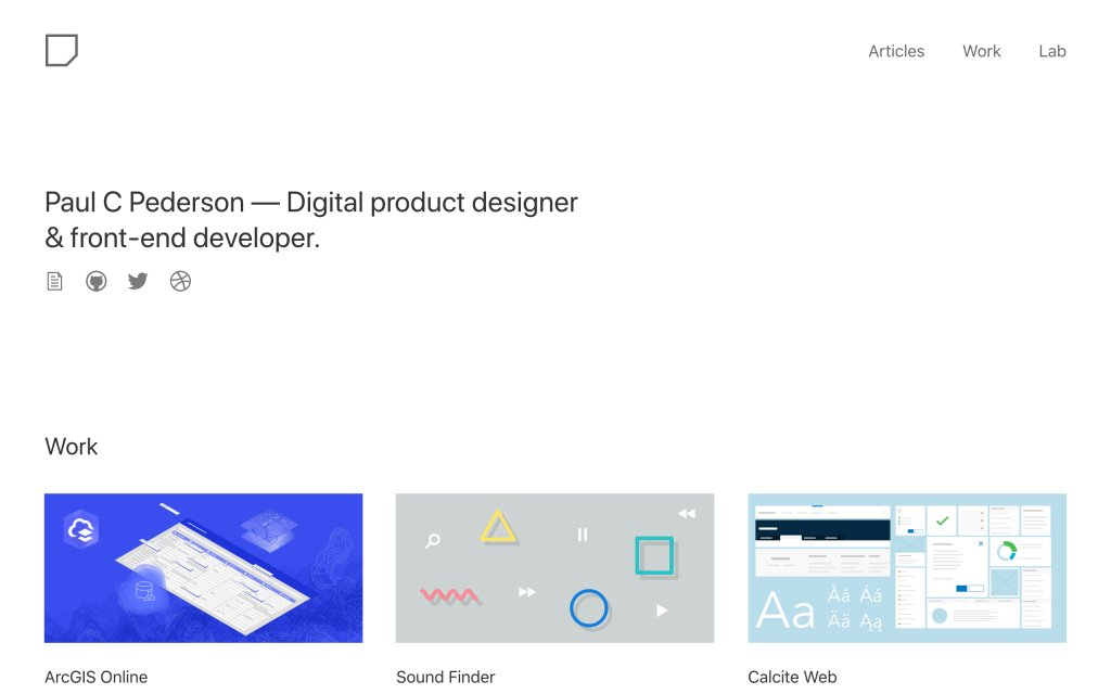 Screenshot of the website Paul C Pederson