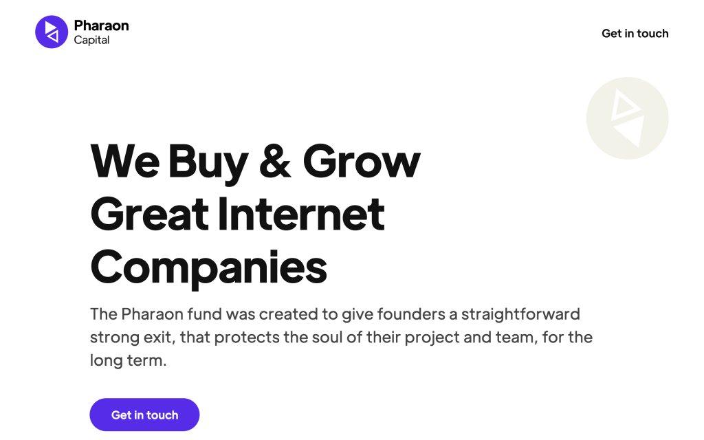 Screenshot of the website Pharaon Capital
