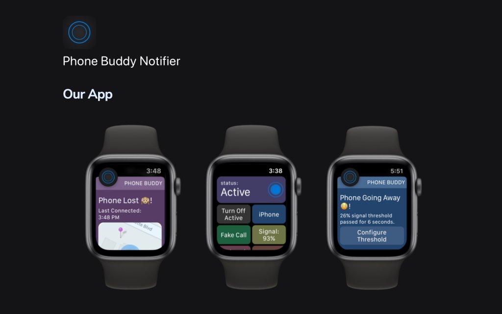 Screenshot of the website Phone Buddy App