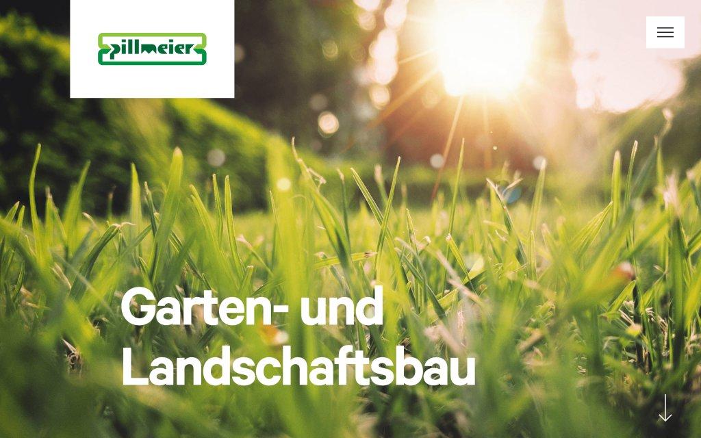 Screenshot of the website Pillmeier Garten