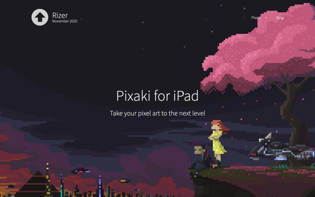 Screenshot of the website Pixaki