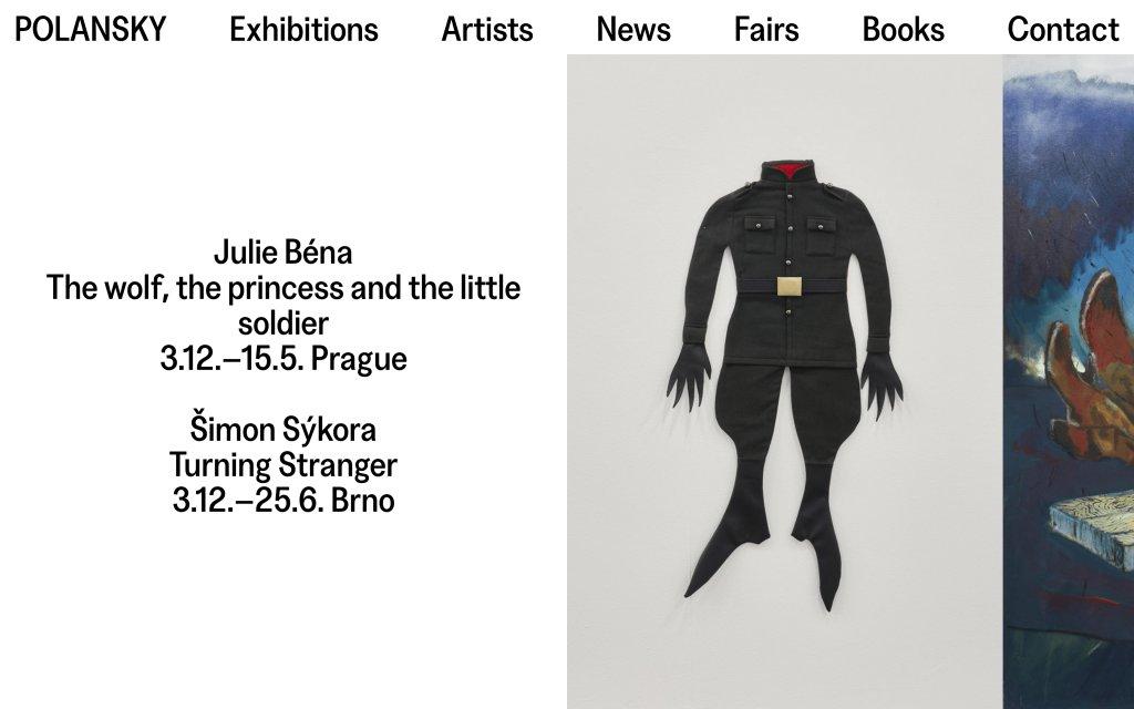 Screenshot of the website Polansky Gallery