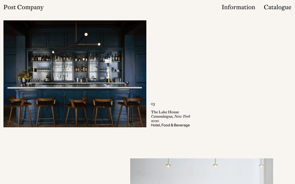 Screenshot of the website Post Company