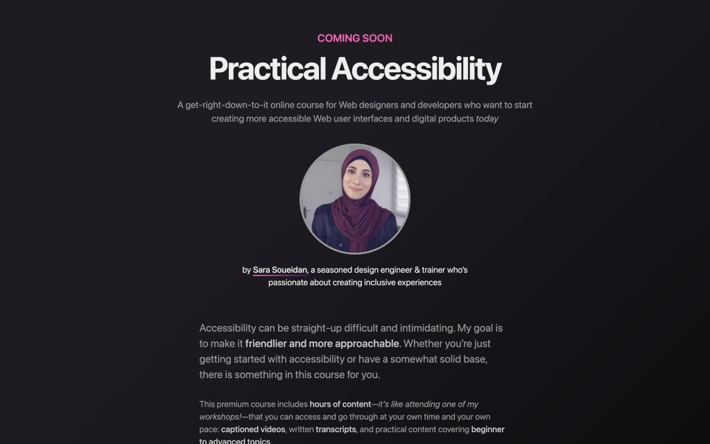 Screenshot of the website Practical Accessibility
