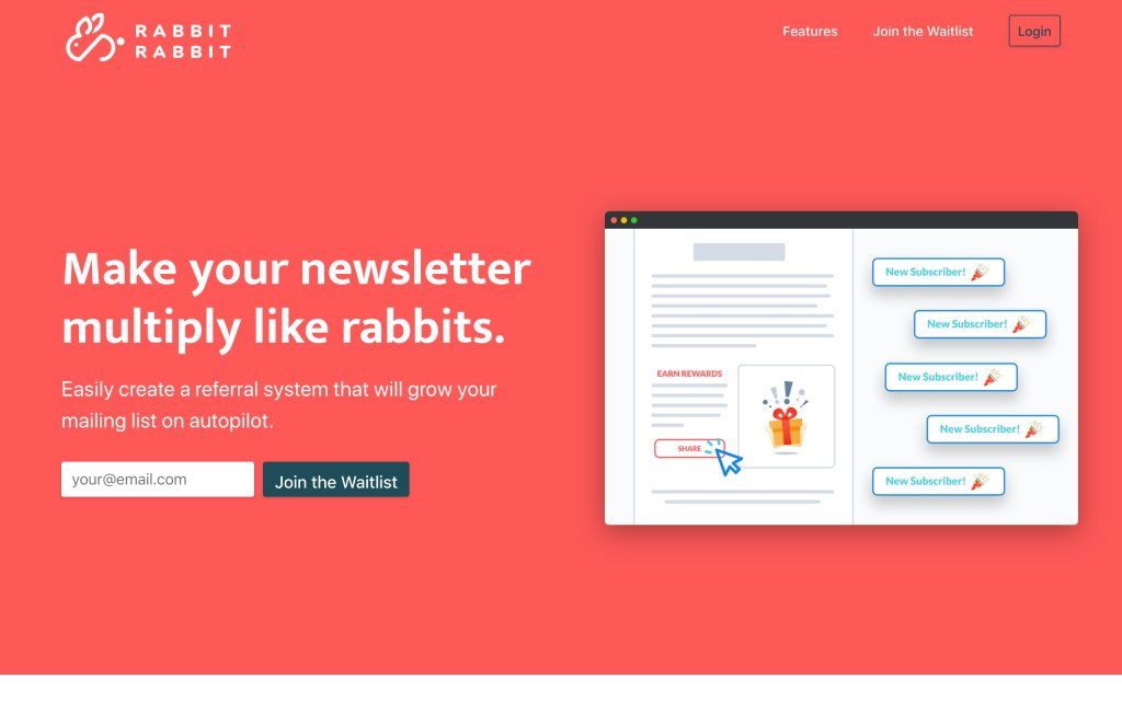 Screenshot of the website Rabbit Rabbit