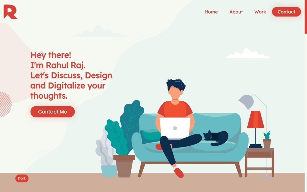 Screenshot of the website Rahul Raj