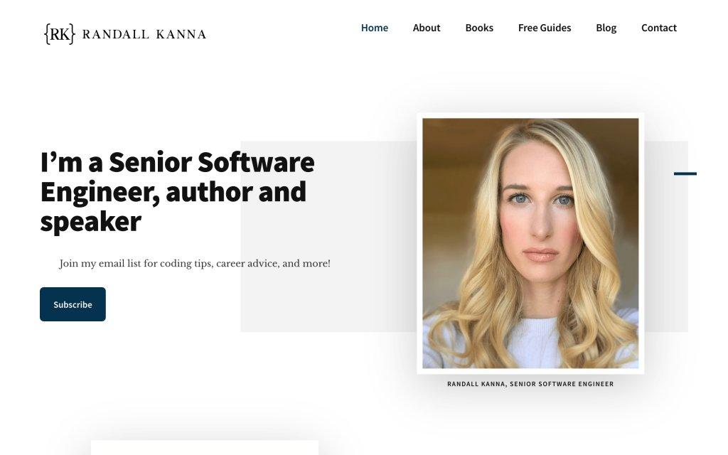 Screenshot of the website Randall Kanna