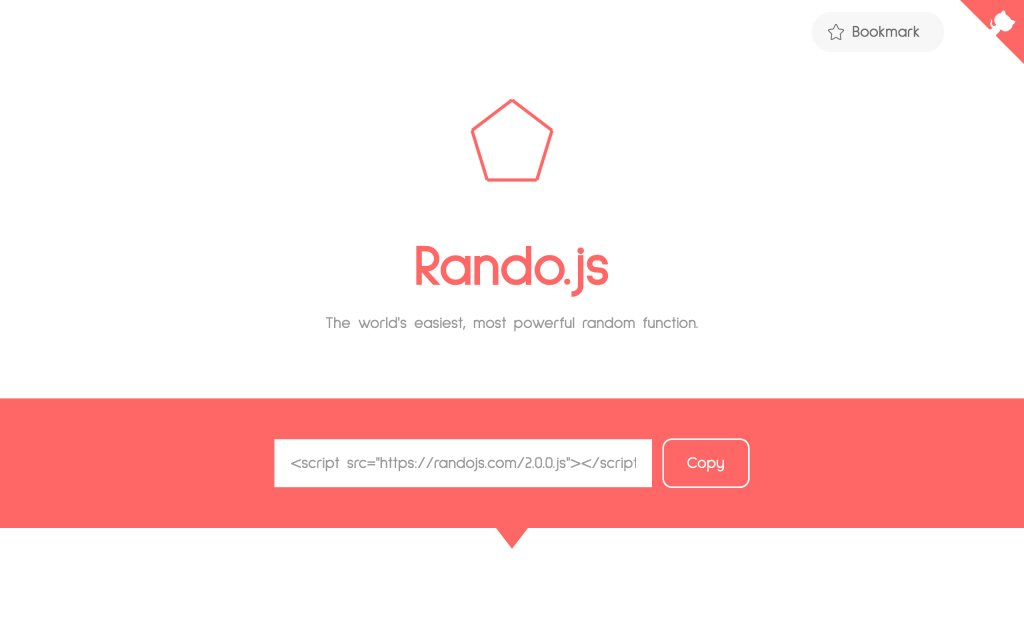 Screenshot of the website Rando.js