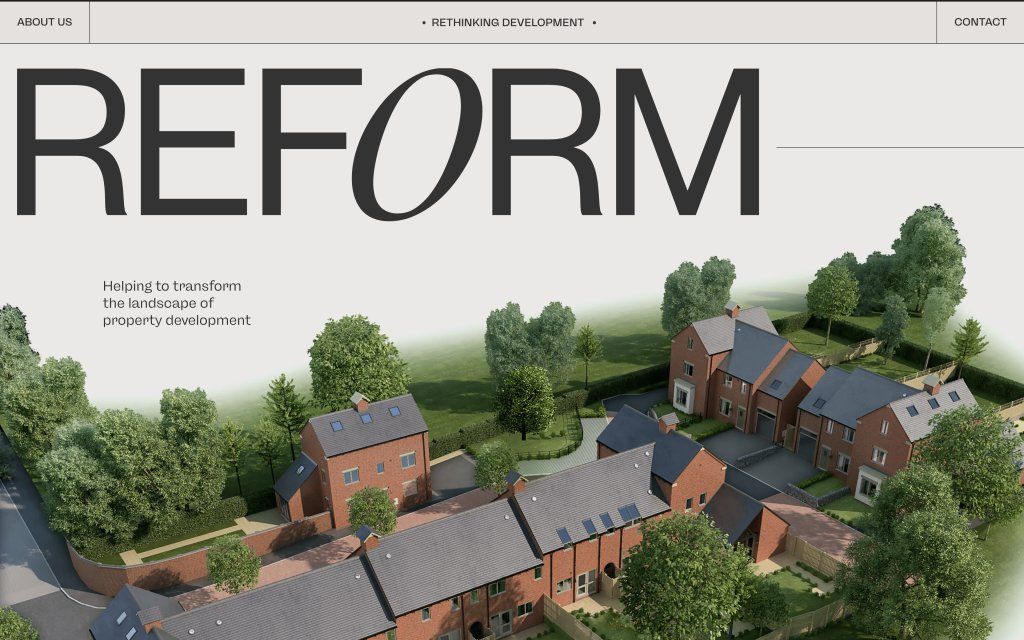 Screenshot of the website Reform Property