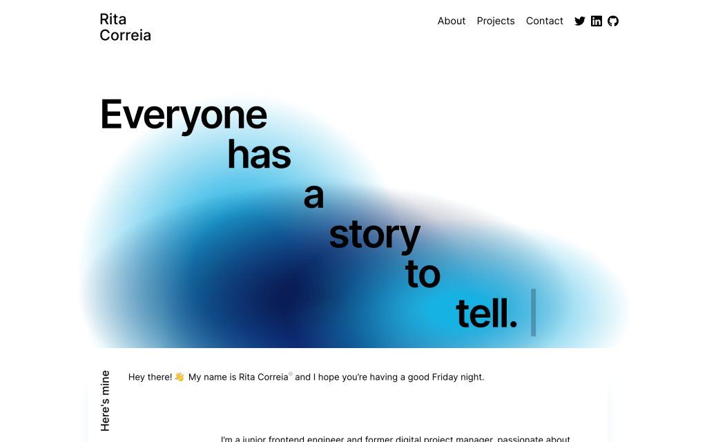 Screenshot of the website Rita Correia