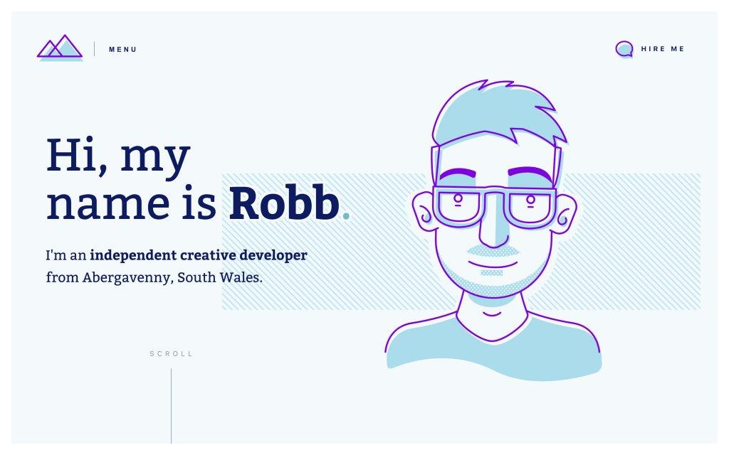 Screenshot of the website Robb Owen