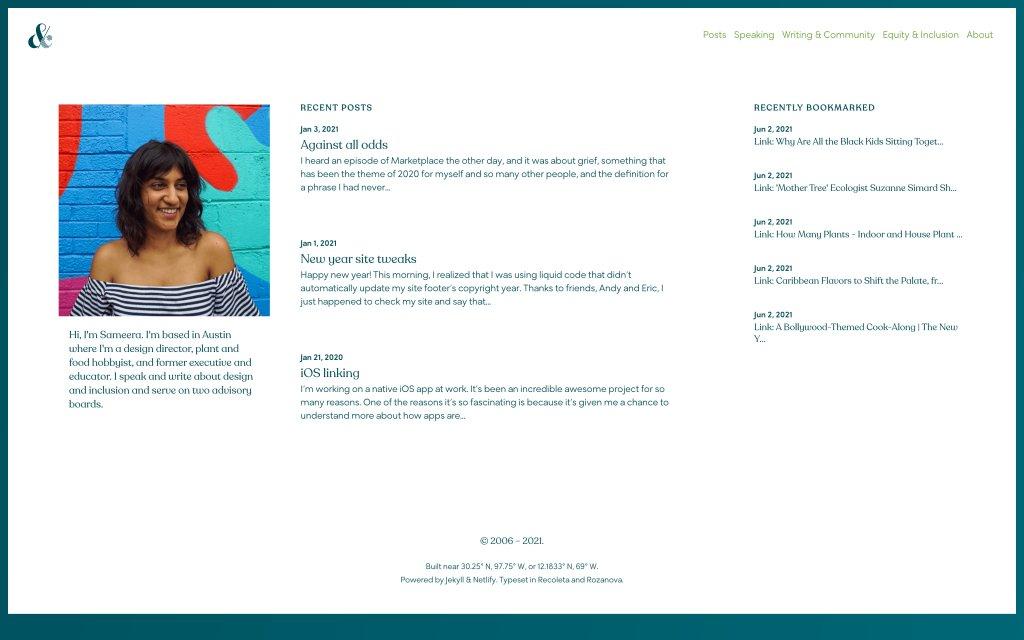 Screenshot of the website Sameera Kapila