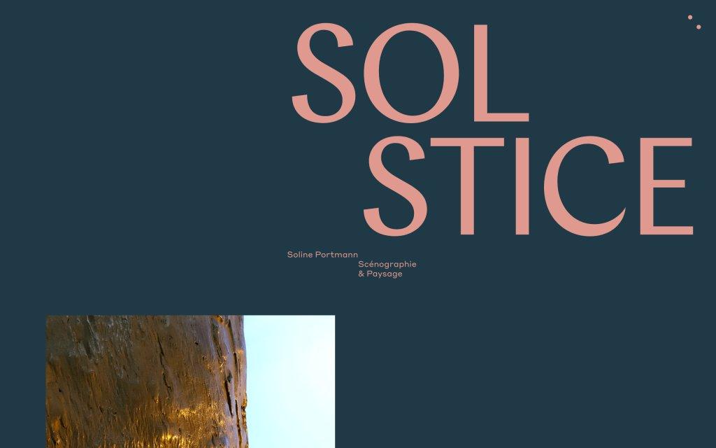 Screenshot of the website Solstice