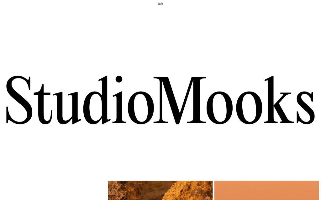 Screenshot of the website StudioMooks