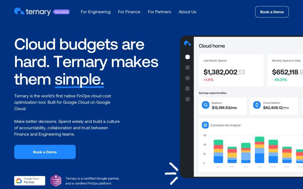 Screenshot of the website Ternary