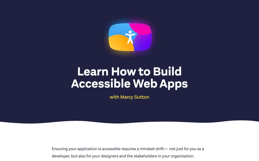 Screenshot of the website Testing Accessibility
