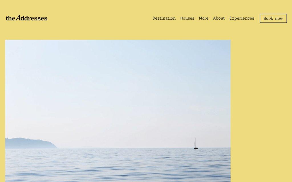 Screenshot of the website The Addresss