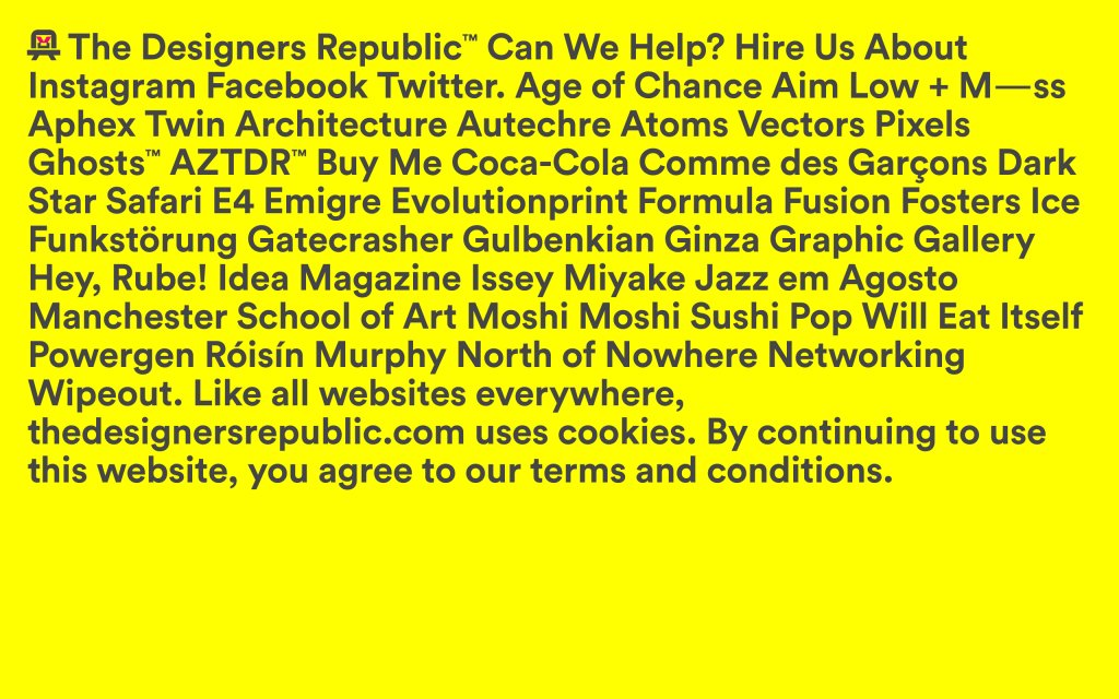 Screenshot of the website The Designers Republic