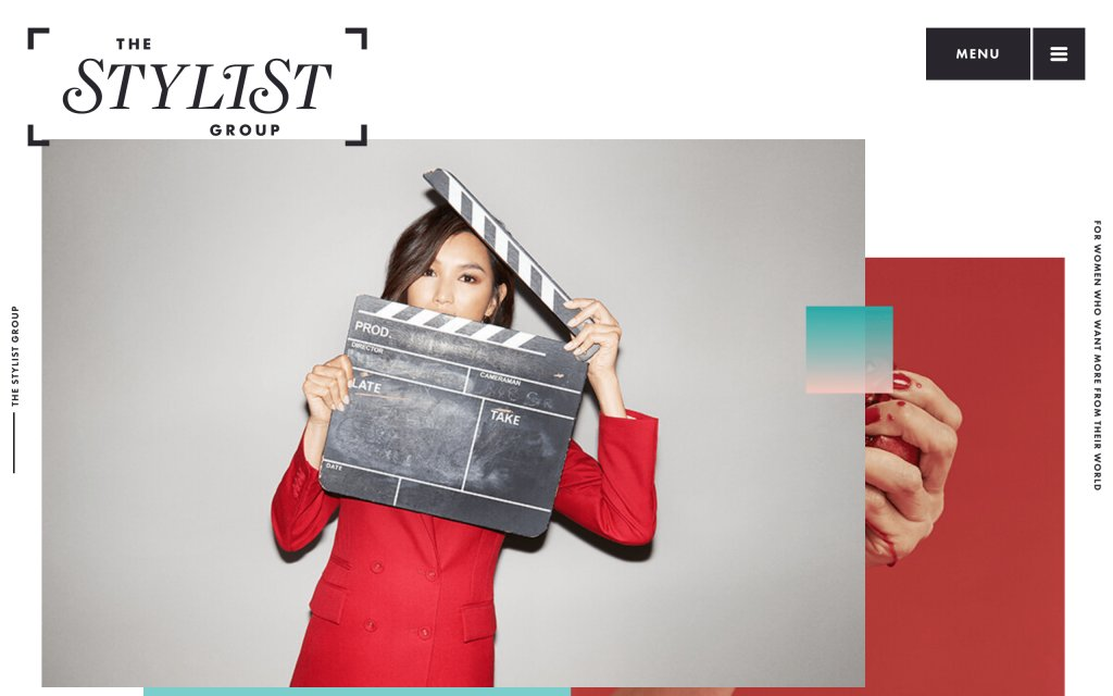 Screenshot of the website The Stylist Group