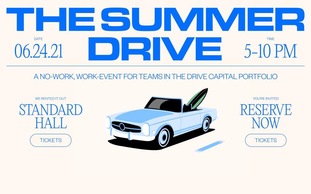 Screenshot of the website The Summer Drive