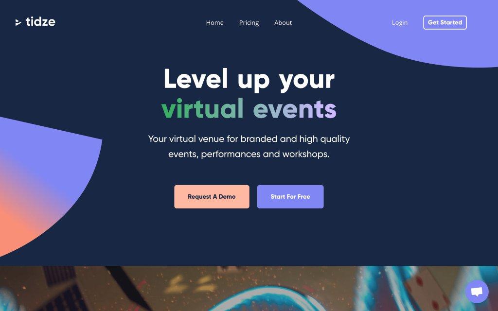 Screenshot of the website Tidze