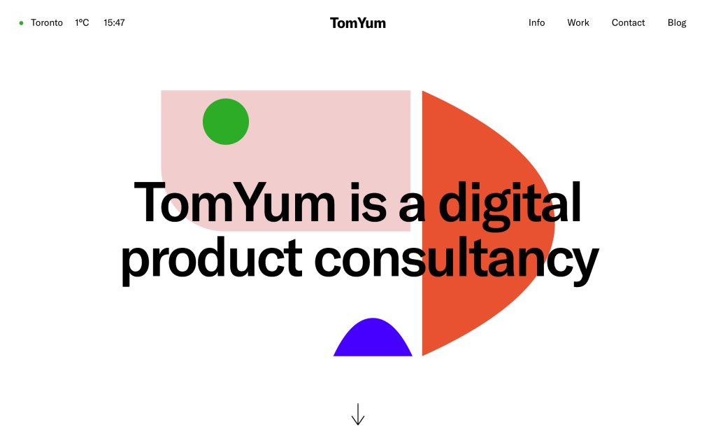 Screenshot of the website TomYum