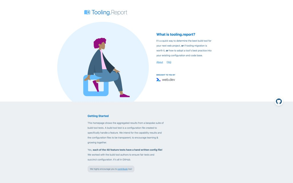 Screenshot of the website Tooling.Report
