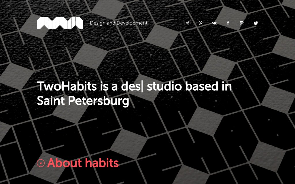 Screenshot of the website TwoHabits