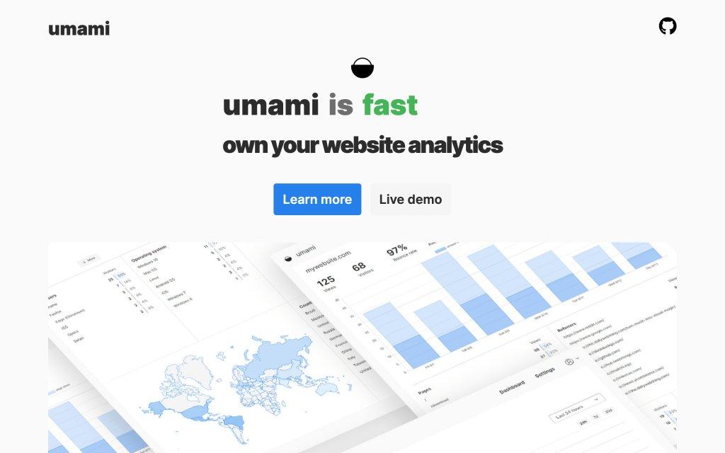 Screenshot of the website umami