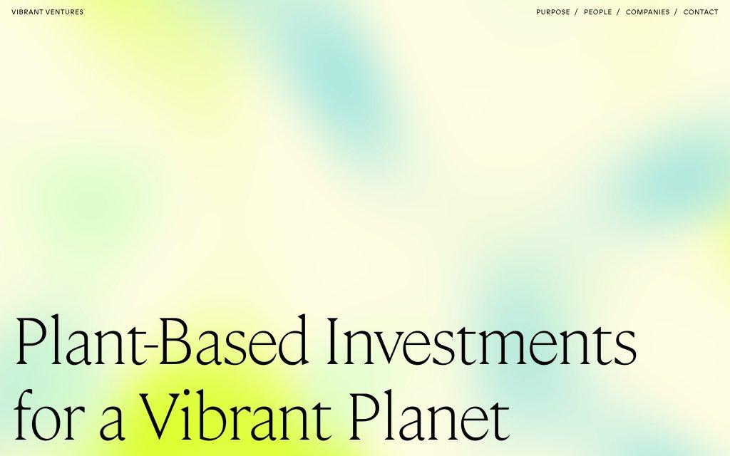 Screenshot of the website Vibrant Ventures