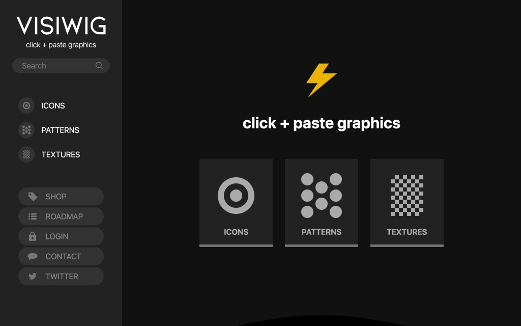 Screenshot of the website VISIWYG