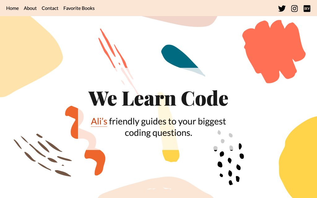 Screenshot of the website We Learn Code