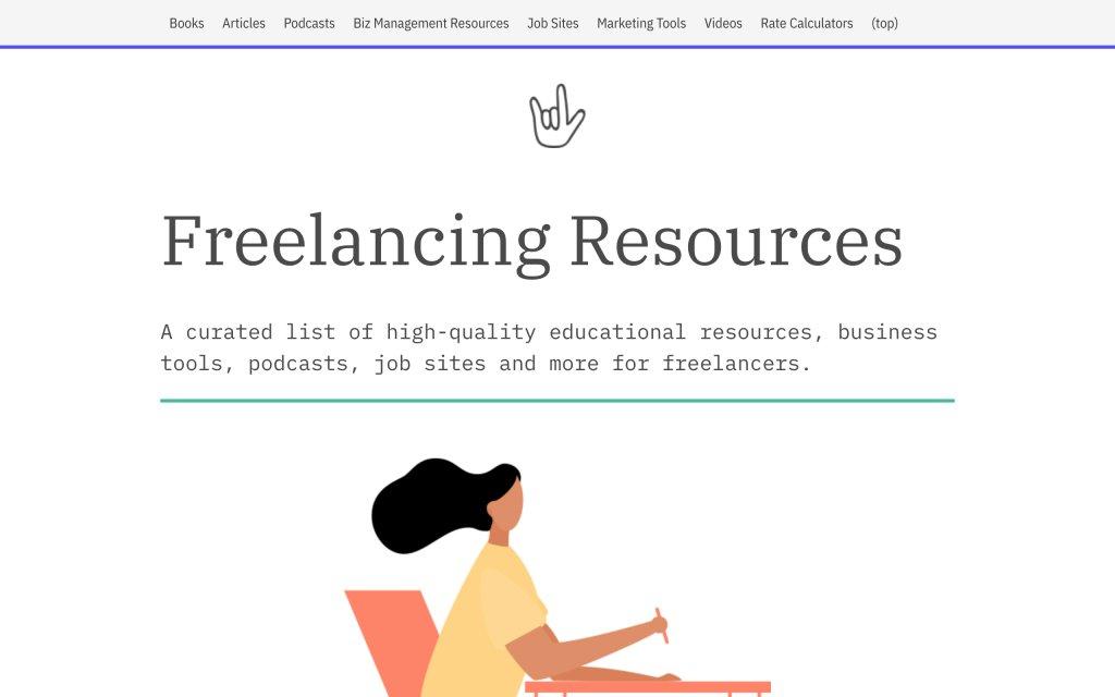 Screenshot of the website WeFreelancing