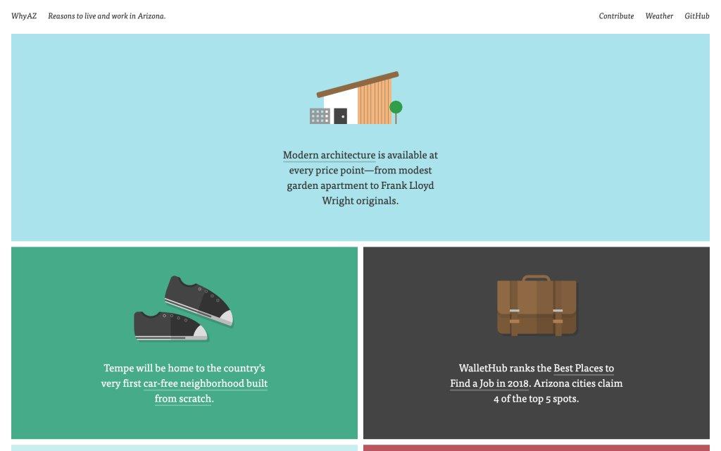 Screenshot of the website WhyAZ