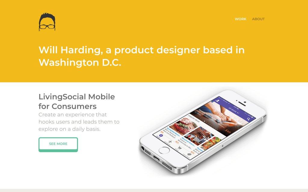 Screenshot of the website Will Harding