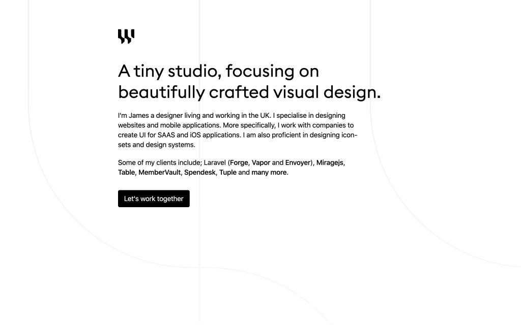 Screenshot of the website Wireframe