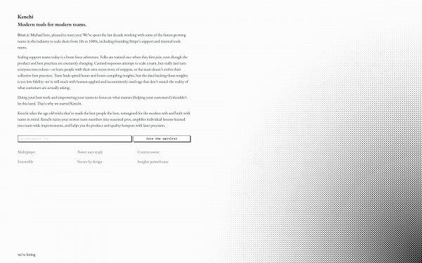 Screenshot of the website Kenchi